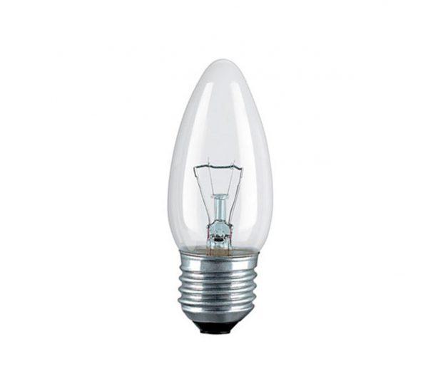 Лампа накал. Pila B35 Е27 свеча прозрачн.