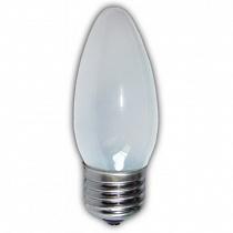 Лампа накал. Pila B35 Е27 свеча мат.
