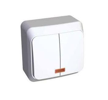Выкл. ОУ 2кл. белый BA10-006b Schneider