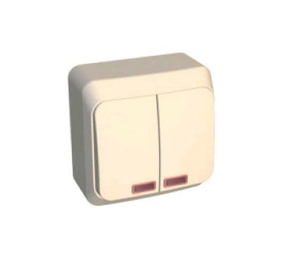 Выкл. ОУ 2кл. крем. BA10-006k Schneider