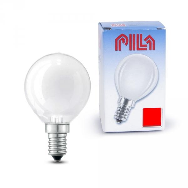 Лампа накал. Pila B45 Е14 шар мат.