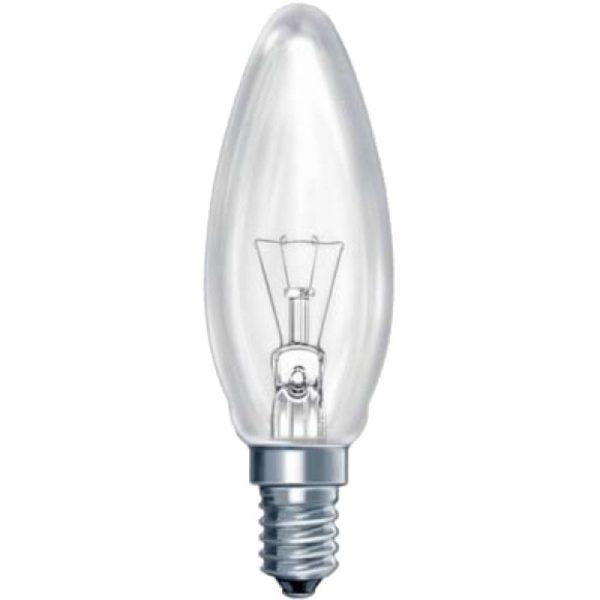 Лампа накал. Pila B35 Е14 свеча прозр.