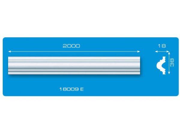 Молдинг 18009 E экструзия Формат